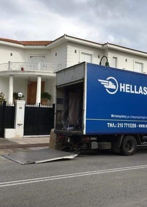 Ανυψωτικά φορτηγά μετακόμισης Μεταφορές Μετακομίσεις Χριστόφορος | Hellas Movers